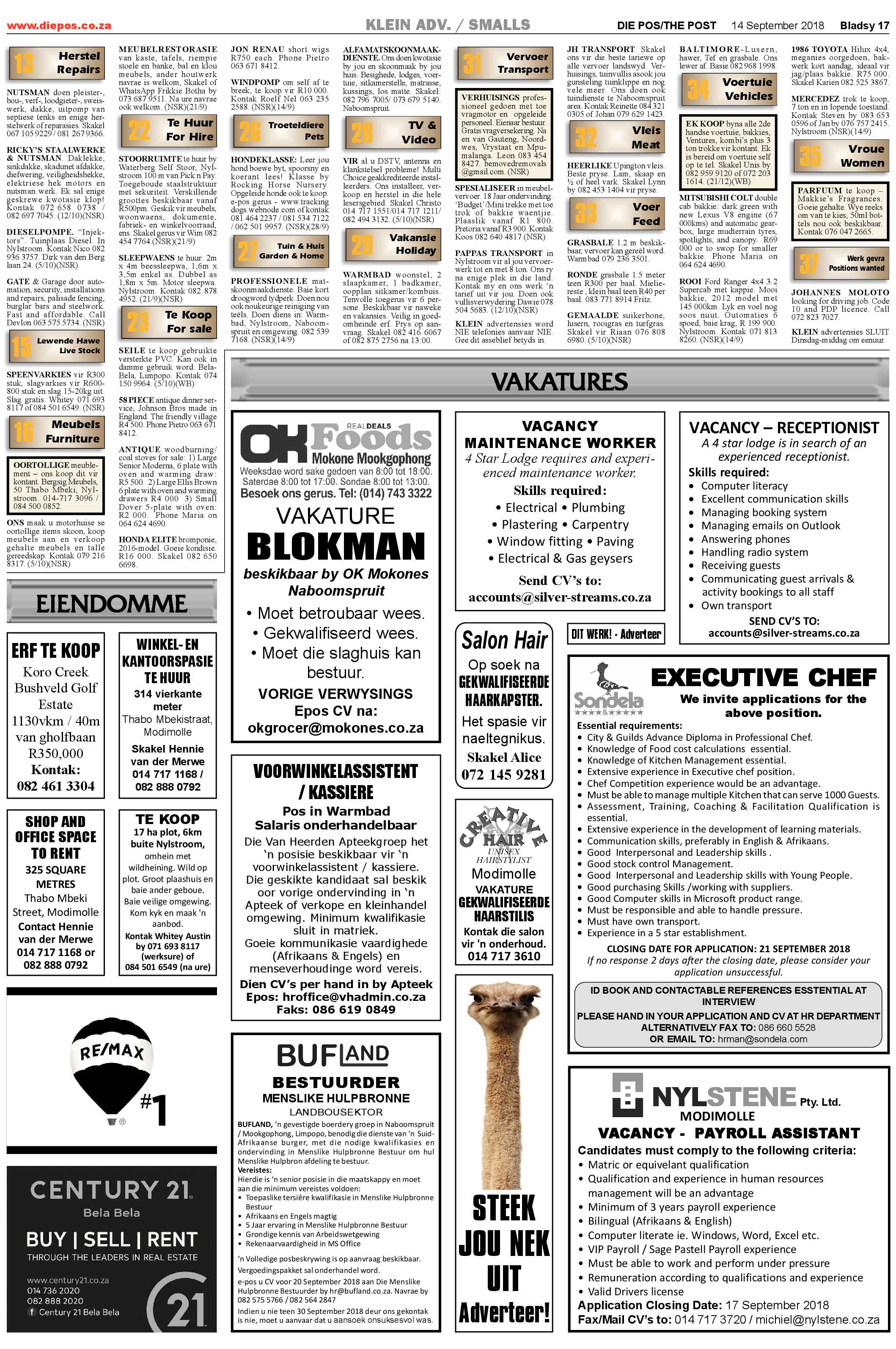 smalls-vacancies-14-september-2018-epapers-page-2